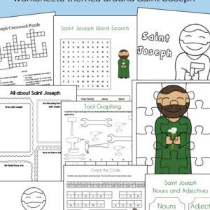 Saint Joseph worksheets and printables