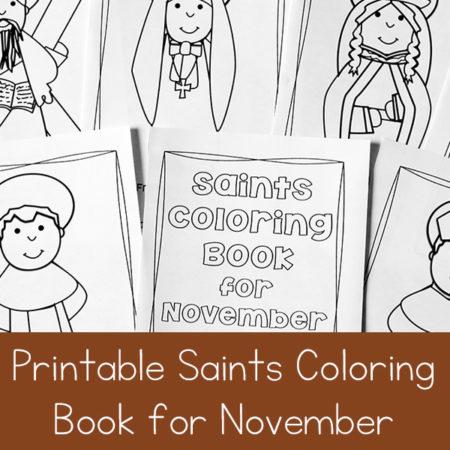 Catholic Saints Coloring Book for November
