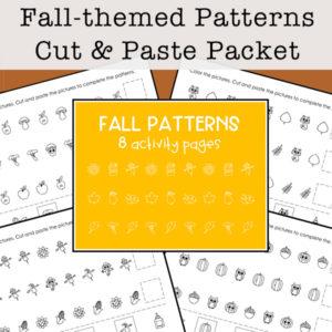 Fall Math Patterns Printables Set