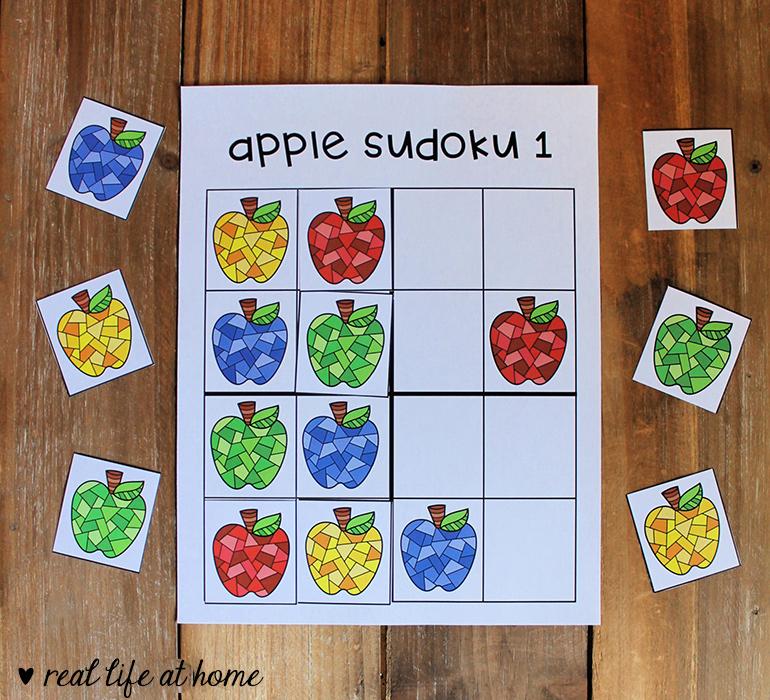 Apple-themed Sudoku for Kids