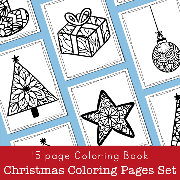 Printable Christmas Coloring Book For Kids And Adults