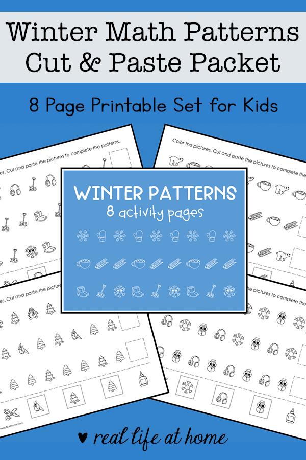Winter Math Patterns Printable Set
