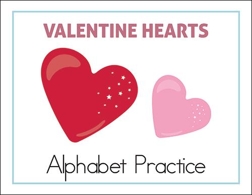 Valentine Hearts Alphabet Practice (cover)