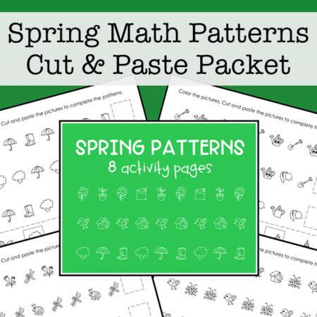 Spring Math Patterns for Kids
