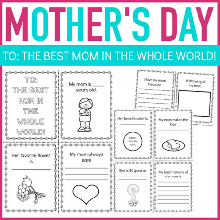 Mother's Day Printable Mini Book for Kids