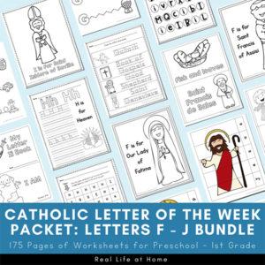 Catholic Letter of the Week F - J Bundle