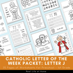 Catholic Letter of the Week Packet for Letter J