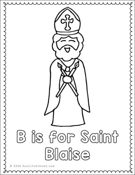 Saint Blaise Coloring Page