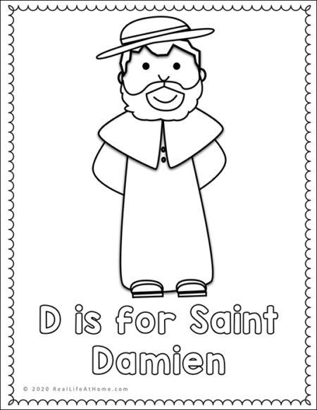 Saint Damien Coloring Page