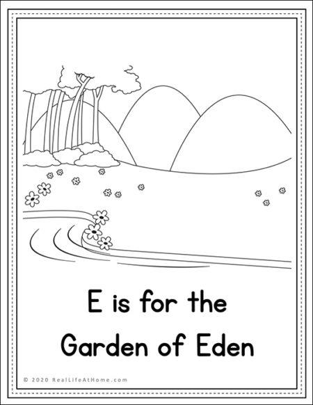 Garden of Eden coloring page