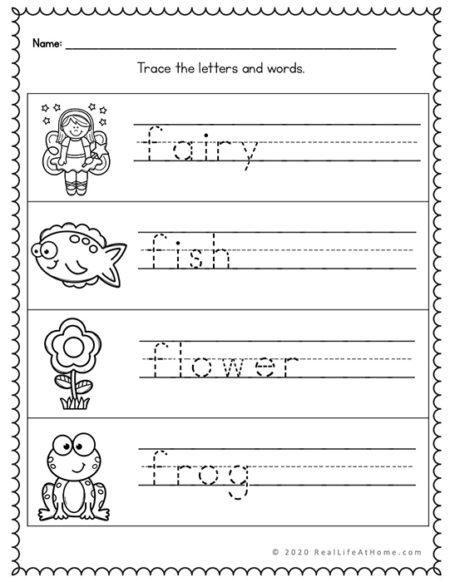 F tracing page