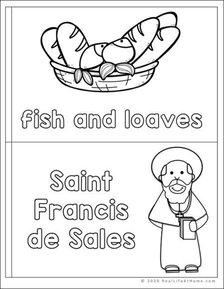 F letter book for Catholic Letter of the Week Program