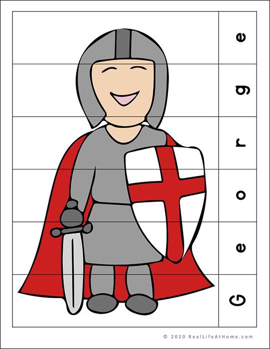 Saint George puzzle page
