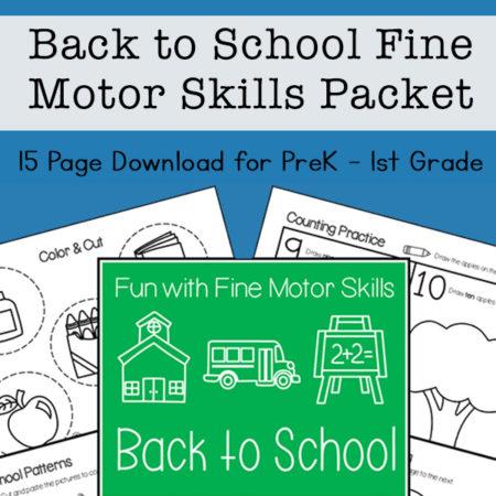Back to School Fine Motor Skills Practice
