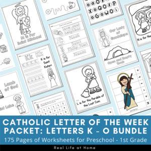 Catholic Letter of the Week K - O Bundle