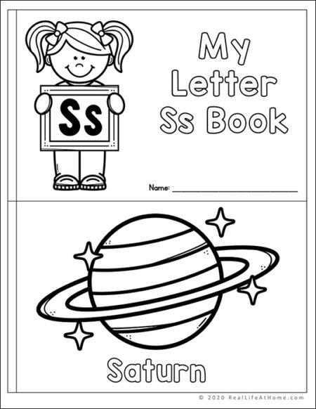 Letter S Mini Book