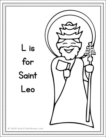 Saint Leo Coloring Page