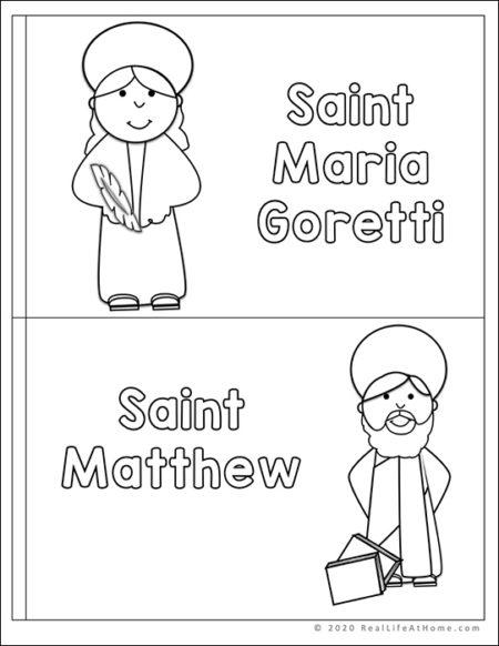 Catholic Mini Book for Letter M