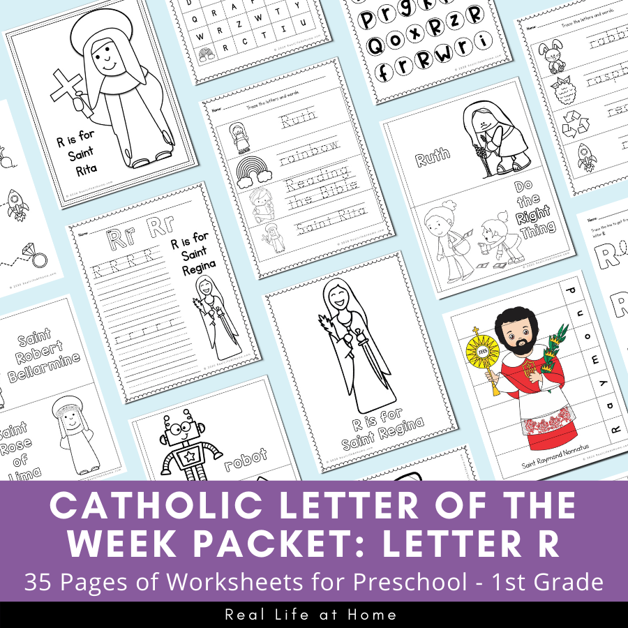 Letter R - Catholic Letter of the Week Packet
