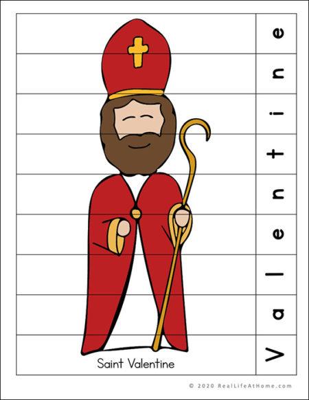 Saint Valentine Printable Puzzle Page