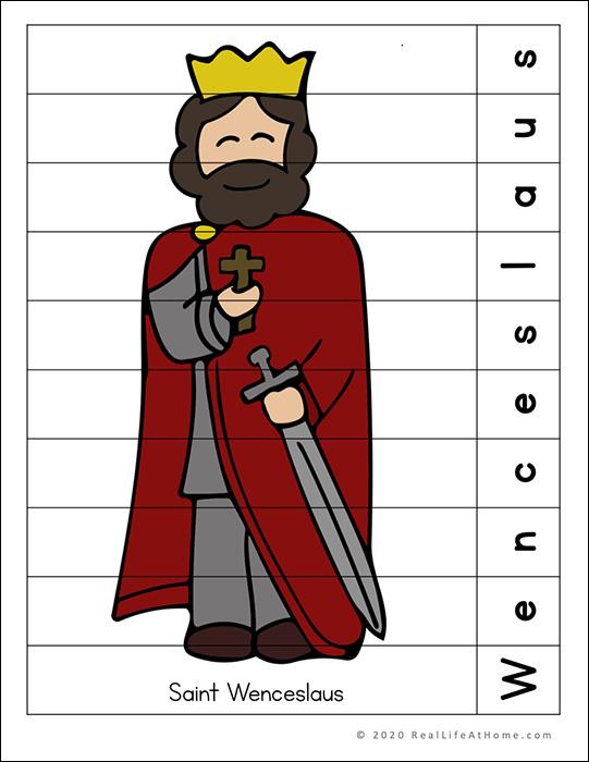 Saint Wenceslaus Printable Puzzle Page