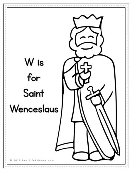 Saint Wenceslaus Coloring Page