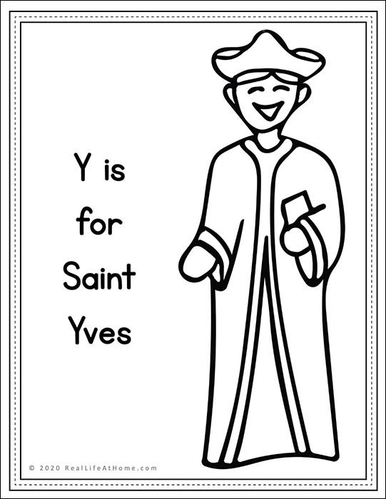 Saint Yves Coloring Page Printable