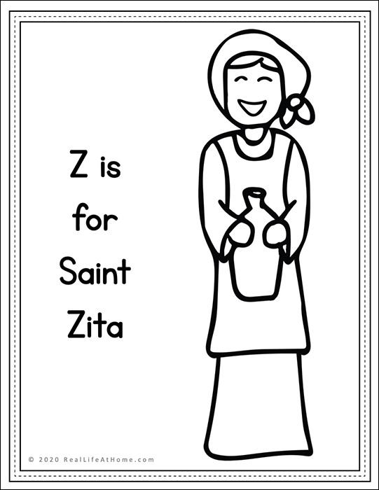 Saint Zita Coloring Page