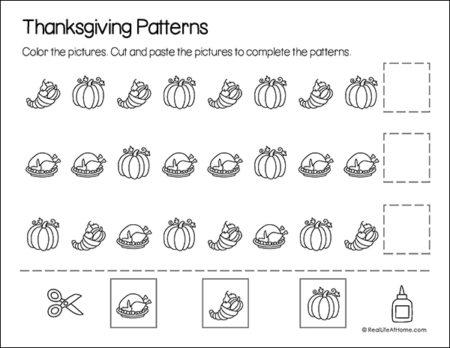 Thanksgiving Patterns Math Page