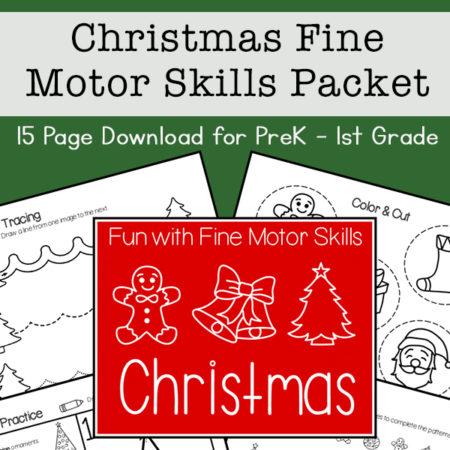 Christmas Fine Motor Skills Practice Packet