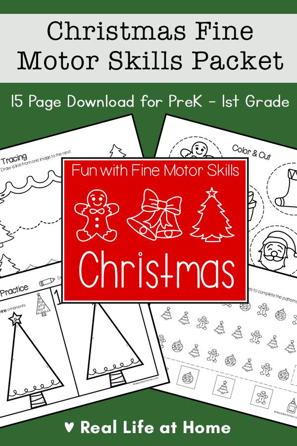 Christmas Fine Motor Skills Packet