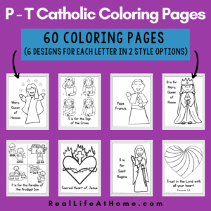 Catholic Coloring Pages for P - T