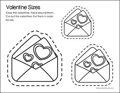 Valentine Sizes Printable