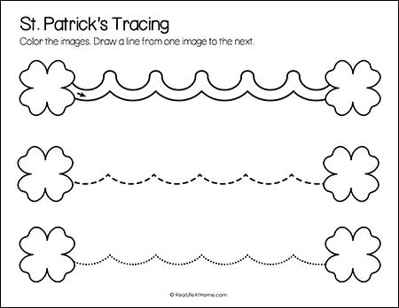 Saint Patrick's Day Line Tracing Printable