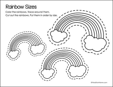 Rainbow Sizes Printable Activity