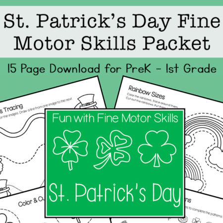 Saint Patrick's Day Fine Motor Skills Packet